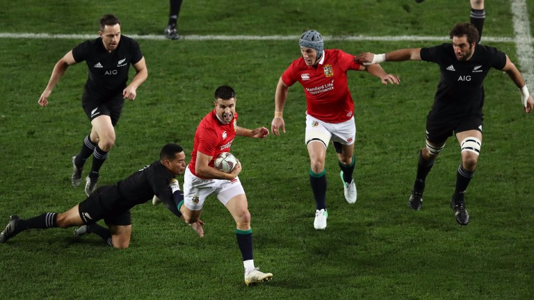 Lions scrum-half Conor Murray makes a break in the first Test against New Zealand
