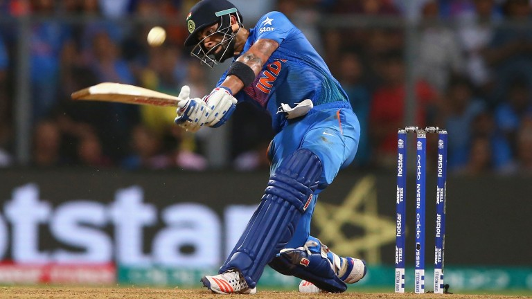 India's Virat Kohli picks up the pace during last year's World Twenty20 semi-final