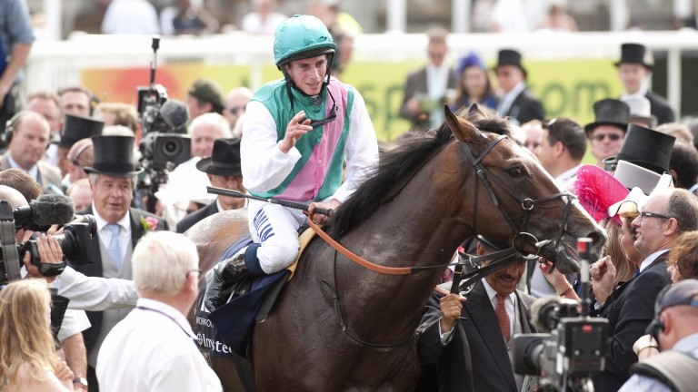 Workforce and Ryan Moore return victorious after the 2010 Derby