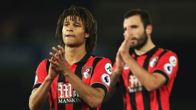 Nathan Ake applauds Bournemouth supporters