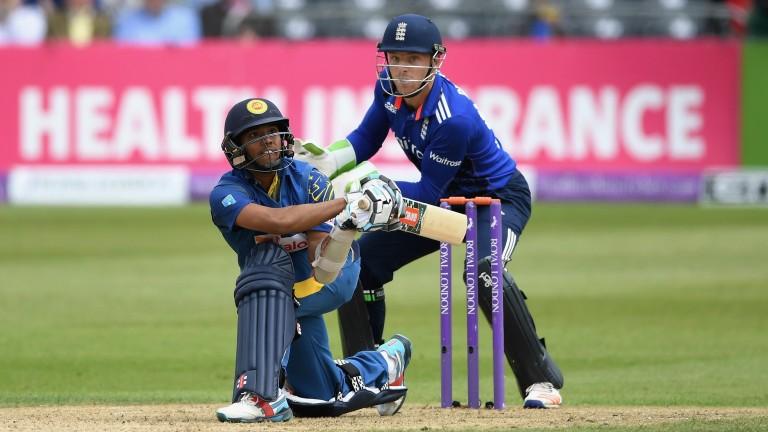 Sri Lanka's Kusal Mendis bats against England