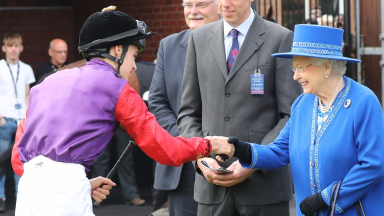 The Queen and jockey Donnacha O'Brien at Musselburgh last year