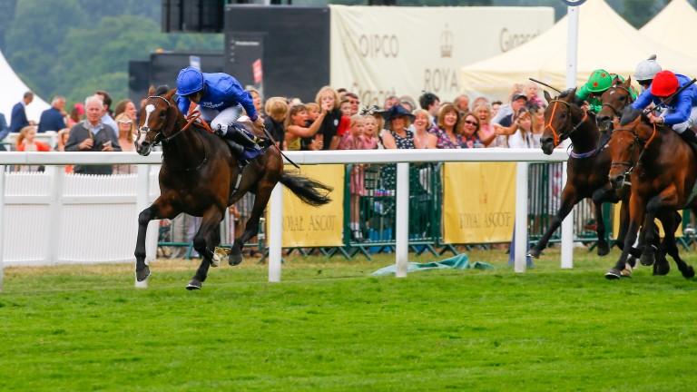 Atty Persse goes clear of the field in the King George V Stakes