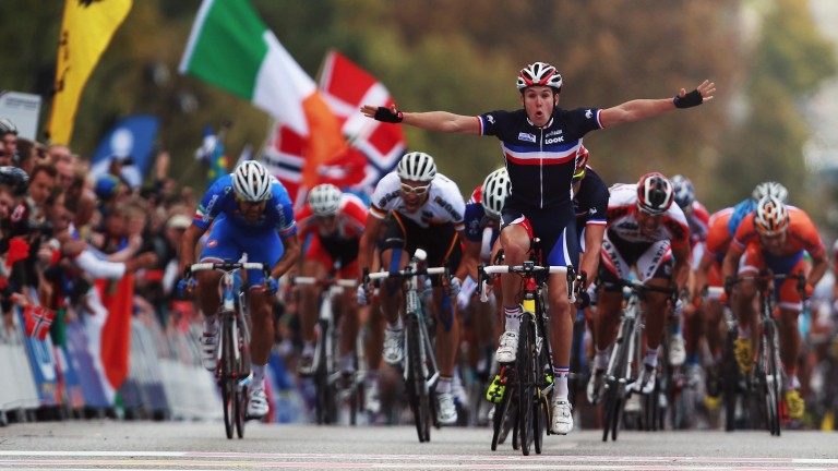 French sprinter Arnaud Demare could finish first