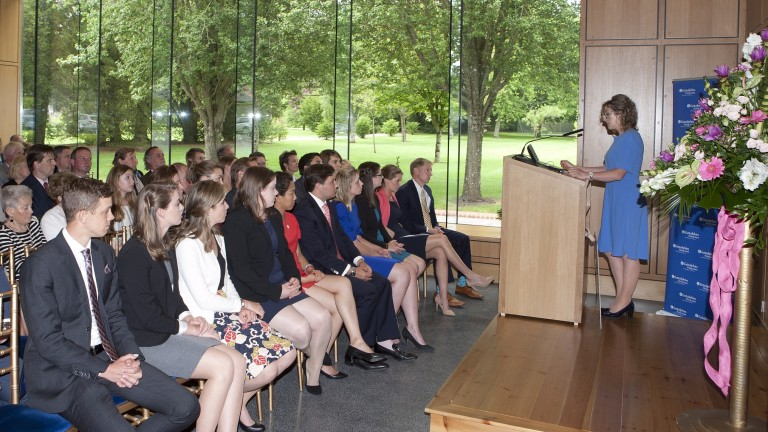 Clodagh Kavanagh addresses the graduates and guests