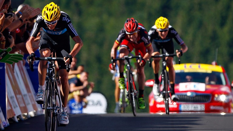 Chris Froome surges to victory in 2012
