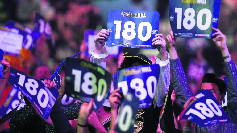 Darts has become a television success story because the audience plays such a big part