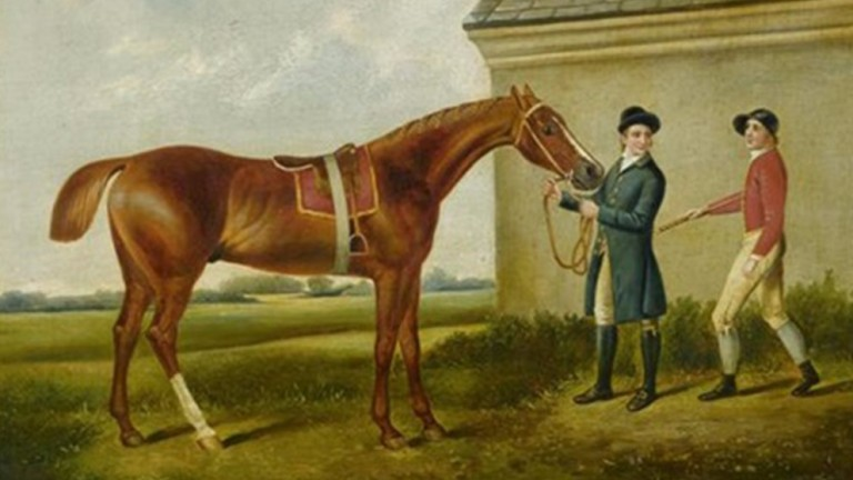 Eclipse, as portrayed on canvas by the great equine artist George Stubbs