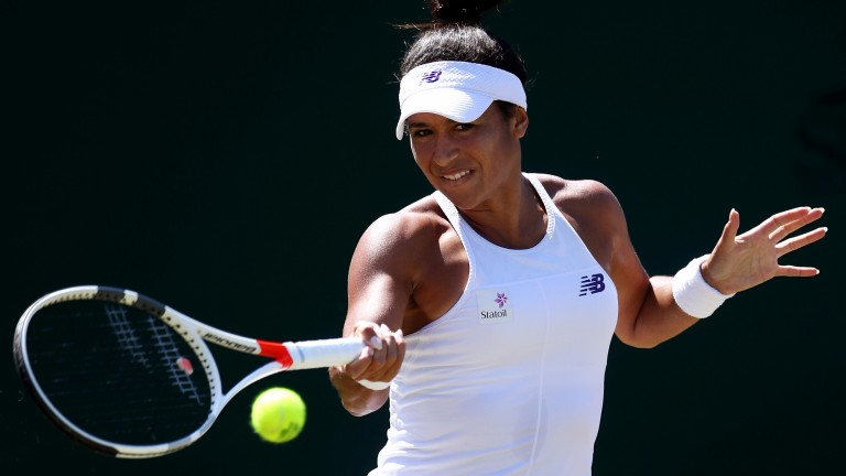 Heather Watson has caught the eye this week