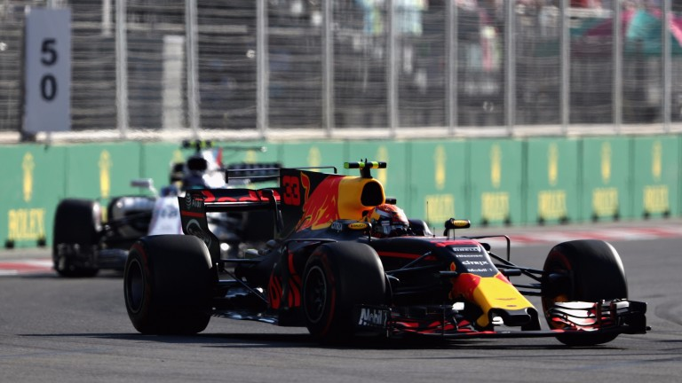 Max Verstappen suffered an early exit in Baku