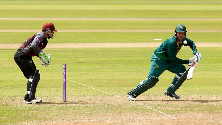 Nottinghamshire's Brendan Taylor bats during the One-Day Cup