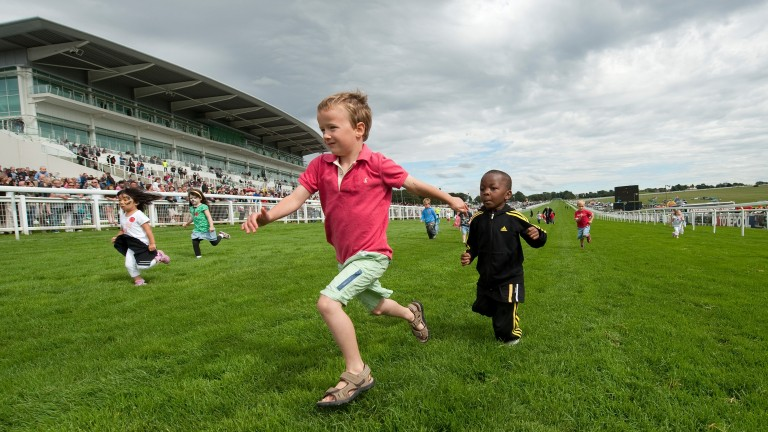 The owners of tomorrow? Children enjoying a day out at Epsom