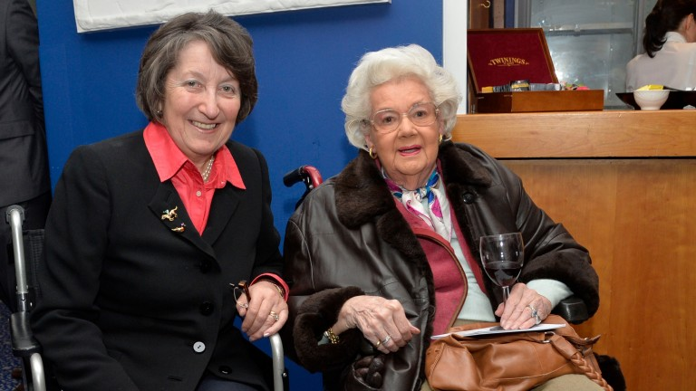 Mercy Rimell (right) pictured with former trainer Henrietta Knight