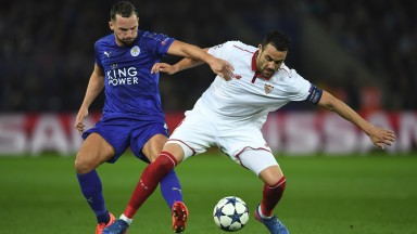 Vicente Iborra (right) will be teaming up with Danny Drinkwater at Leicester this season