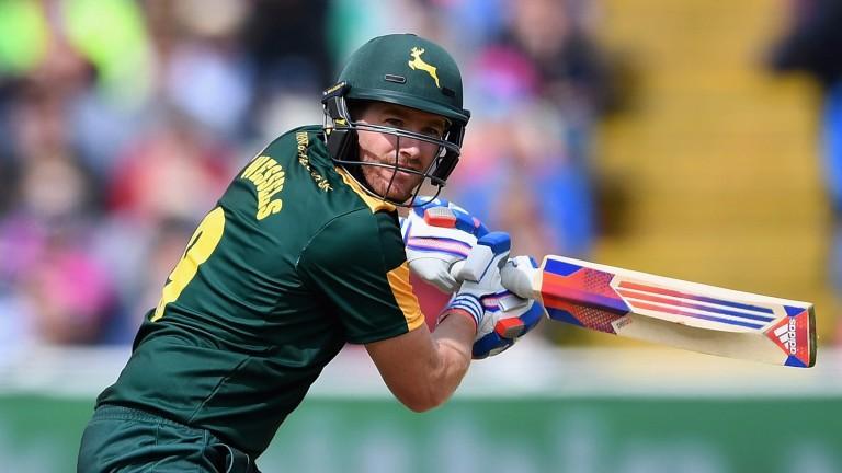Nottinghamshire's Riki Wessels bats on T20 Finals Day at Edgbaston last summer