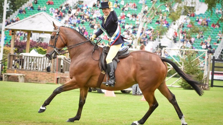 Southerly Roberts and Imperial Ruby celebrate at Hickstead