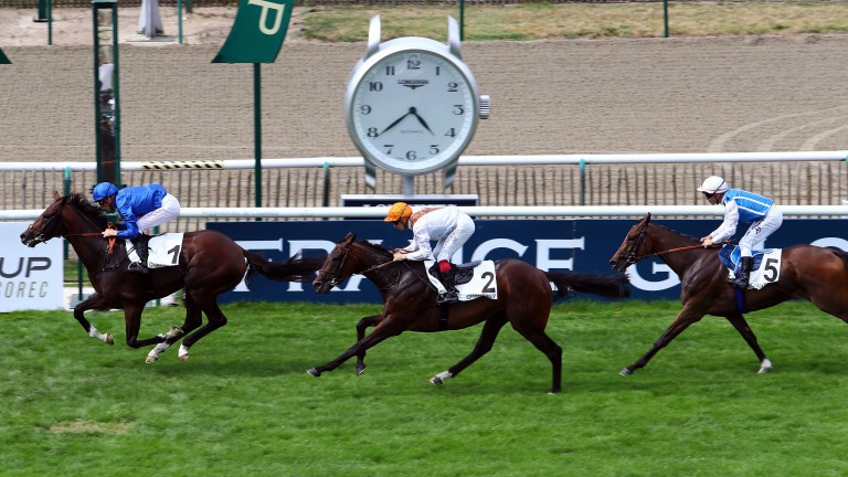 Traid Fluors (no 2) split Thunder Snow and Gold Luck in the Prix Jean Prat at Chantilly in July