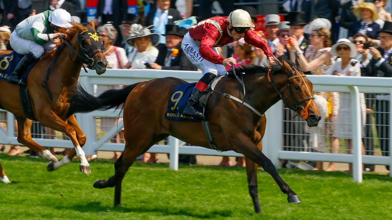Heartache and Adam Kirby win the Queen Mary at Royal Ascot