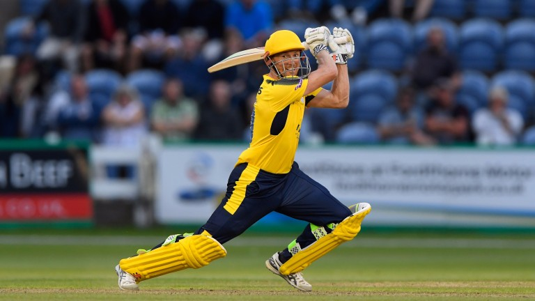 George Bailey goes on drive for Hampshire against Glamorgan