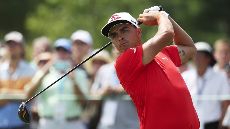Rickie Fowler is five shots off the pace