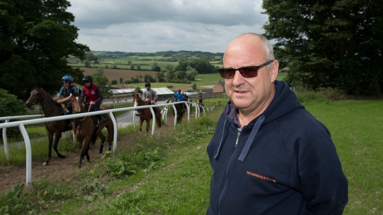 Richard Fahey: heads to the Curragh with Kimberella and Mr Lupron