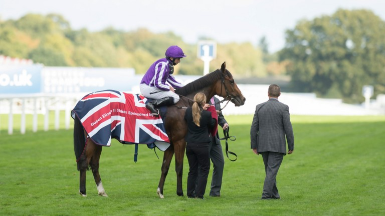 Victorious at Ascot after the QEII Stakes