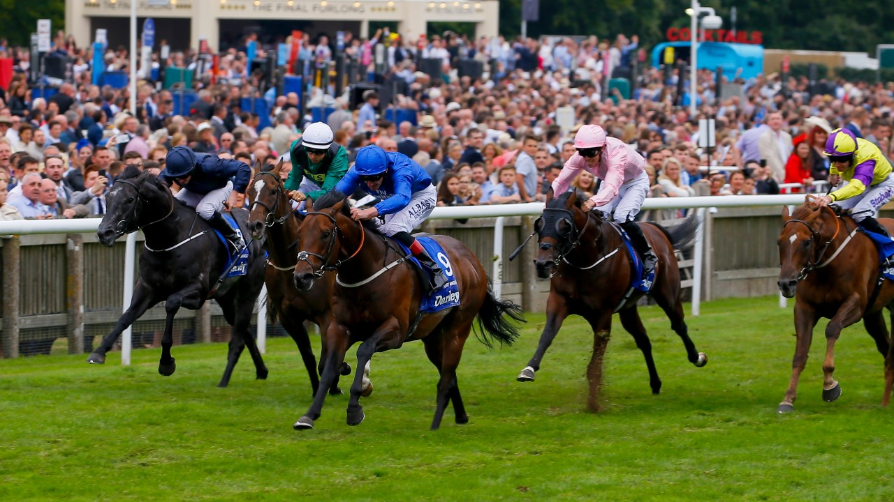 Harry Angel ends Caravaggio's win streak with victory in July Cup