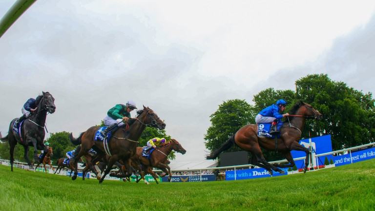 Harry Angel: clears away to win the July Cup at Newmarket