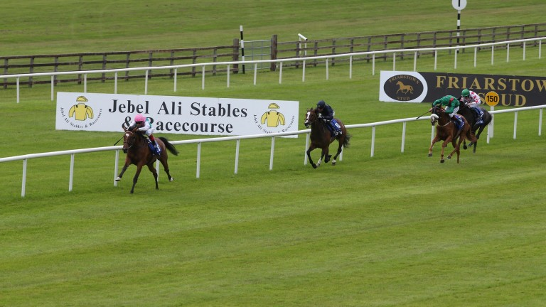 Enable stretches clear under Frankie Dettori to run out an easy winner of the Irish Oaks