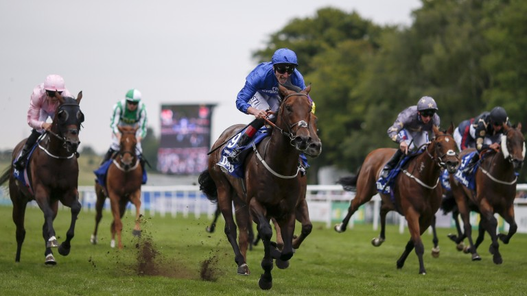 Last year's July Cup with Harry Angel (Adam Kirby) finishing clear of his rivals