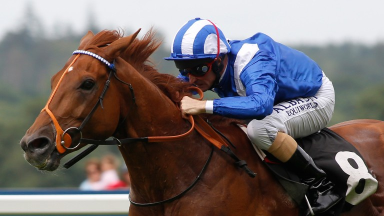 Mutakayyef and Dane O'Neill en route to a second success in Ascot's Summer Mile