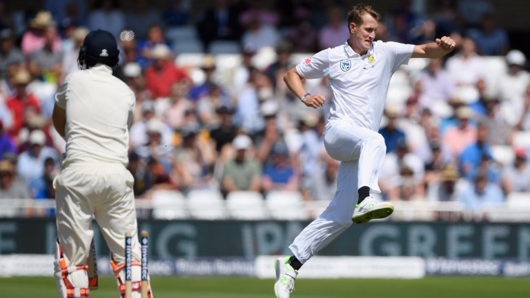 Chris Morris enjoys bowling England captain Joe Root