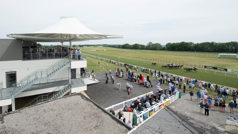 Bath racecourse: the only track in Britain that does not water