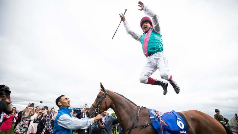 Jumping for joy: racing in Britain will resume at Newcastle on Monday after government approval
