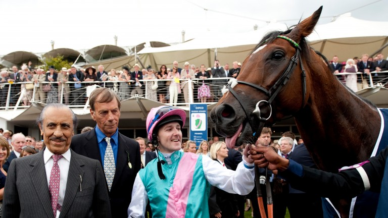 Frankel became a hero with the wider public when Khalid Abdullah (left) allowed him to race on
