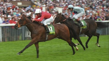 Lyric Fantasy - Michael Roberts wins from Mr Brooks - Lester PiggottThe Nunthorpe Stakes.York 20/8/1992.