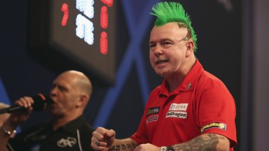 Peter Wright broke his major duck in March