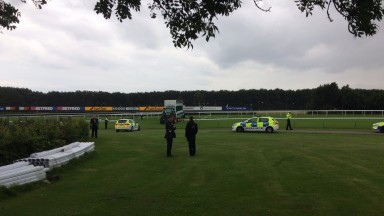The police arrived at the scene at Haydock
