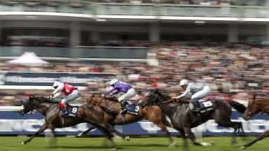 Stone Of Folca (Luke Morris) wins the DashEpsom 2.6.12 Pic:Edward Whitaker