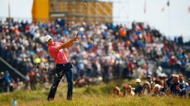 Jordan Spieth made birdies on the third, seventh and eighth on the front nine
