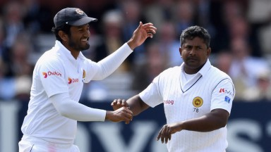 Rangana Herath (right) will captain Sri Lanka at their Galle fortress