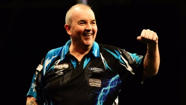 Phil Taylor is looking in fine form at the Winter Gardens