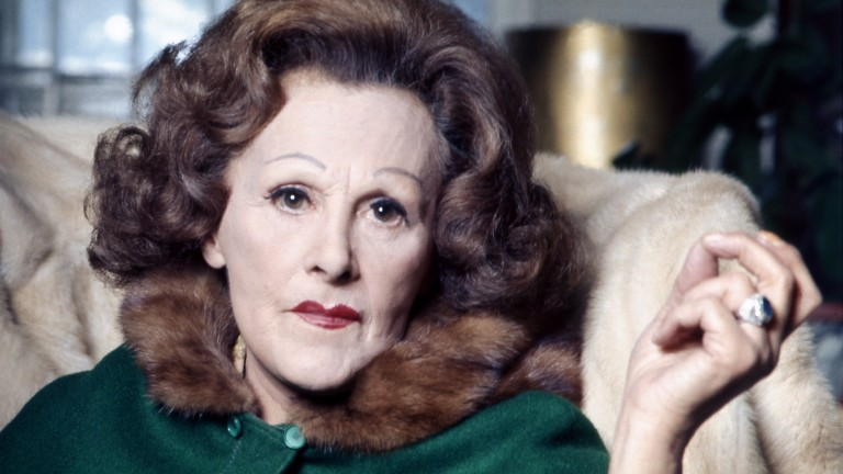 Fanny Cradock: missed her chance to meet Ian Carnaby due to a race at Ayr