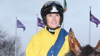 Katie Walsh rides Georgian Bay for Karl Burke in Ascot's Longines Handicap