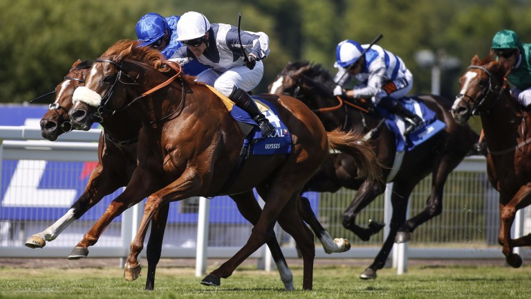 Ulysses and Jim Crowley: fended off Barney Roy in the Coral-Eclipse last month