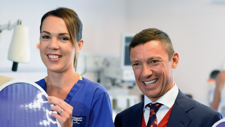 Frankie Dettori launching the West Suffolk Hospital 'Every Heart Matters' appeal