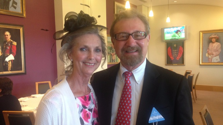 Cathy Cordes and Daniel Kessler enjoying their day out at Ascot
