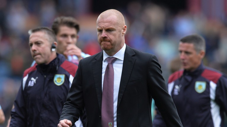 Burnley manager Sean Dyche: saw his side get knocked out of League Cup by Leeds