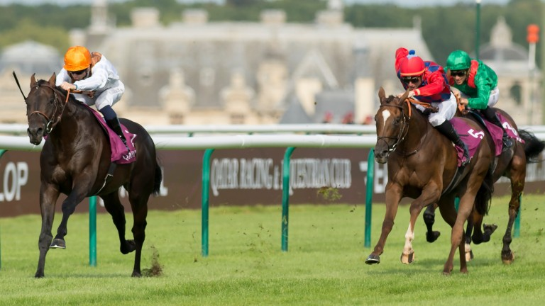 Spectre (red cap): found only Vadamos too good in the Prix du Moulin last year