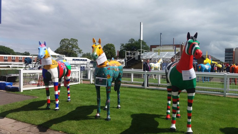 Prize-money and iPads were up for grabs in the painted horses competition